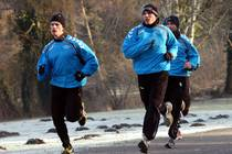 Die Mannschaft des ASV Hamm-Westfalen beim Lauftraining