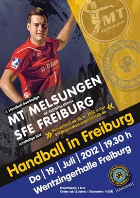 Bundesligahandball in Freiburg am 19.7.