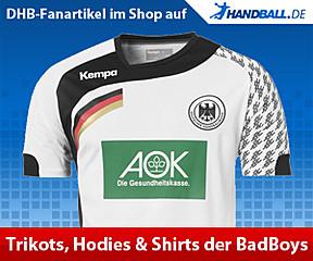 Hol dir die DHB-Trikots, Shirts und Hoodies der BadBoys