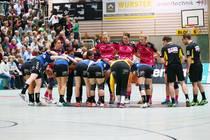 TuS Metzingen vs. DJK/MJC Trier - die Mannschaften vor dem Spiel