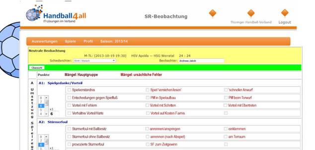 SchiedsrichterbeobachtungOnline: Import Spielpläne und Schiedsrichterdaten,...