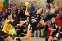 Juniorinnen-Nationalspielerin Nicole Lederer spielte stark auf und erzielte 9...
