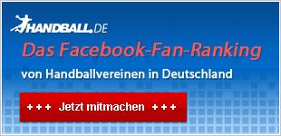 Dein Verein im Facebook-Fan-Ranking für Handballvereine in Deutschland